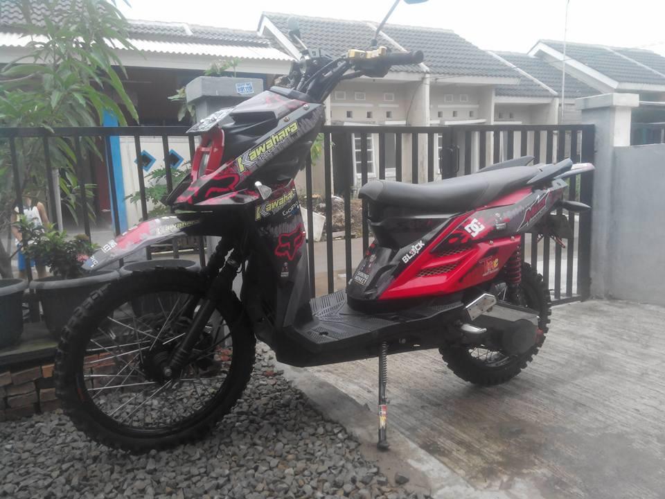 kumpulan modifikasi mio sporty menjadi x ride